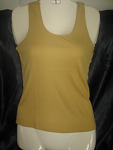 Lace Back Camisole Top Mustard