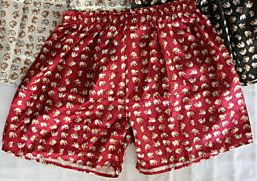 Silk Red Elephant Boxers Plus