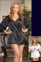 Dreamy Black Robe Plus Size