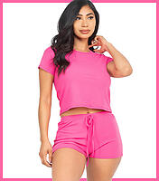 CP Crop Top Sets Hot Pink