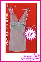 Lavendar Lace Chemise w/Matching thong