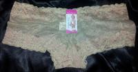 Khaki Flowers Lace baye Boyshorts