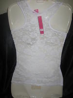 Lace Back Camisole Top White